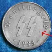 FAKE- Ficha de cantina Nazi. 50 Reichspfennig, 1939 Kantinegeld2errs